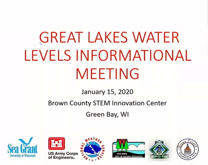 Great Lakes High Water Informational Meeting - YouTube Video