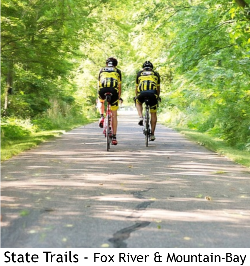 Two bikers on paved trail