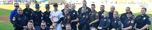 Deputies and officers at Timber Rattler Stadium
