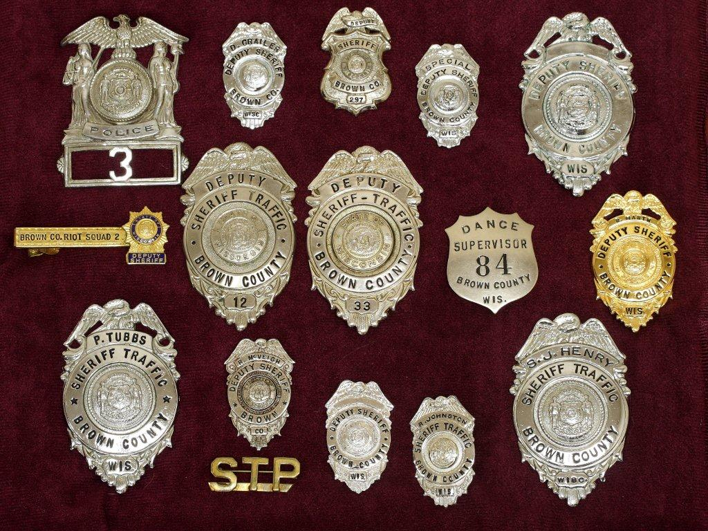 collection of old badges