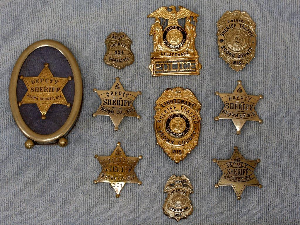 Collection of old Sheriff Badges