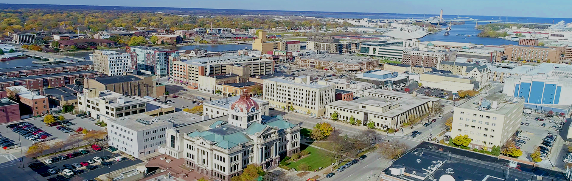 Birdseye View of BC Courthouse in Downtown Green