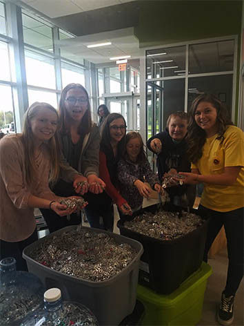 4-H club collects pop tabs