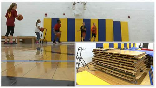 Arena flooring used for local school
