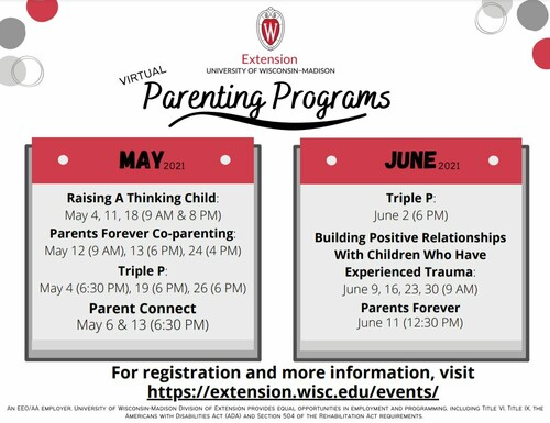 May and June parenting programs